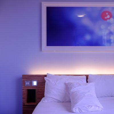 Chambre à coucher en bleu, un lieu aussi beau que confortable!